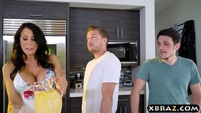 big boobs  brunette  gay  housewife